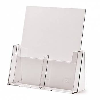 2 wide 1/3rd A4 Counter Brochure Holder