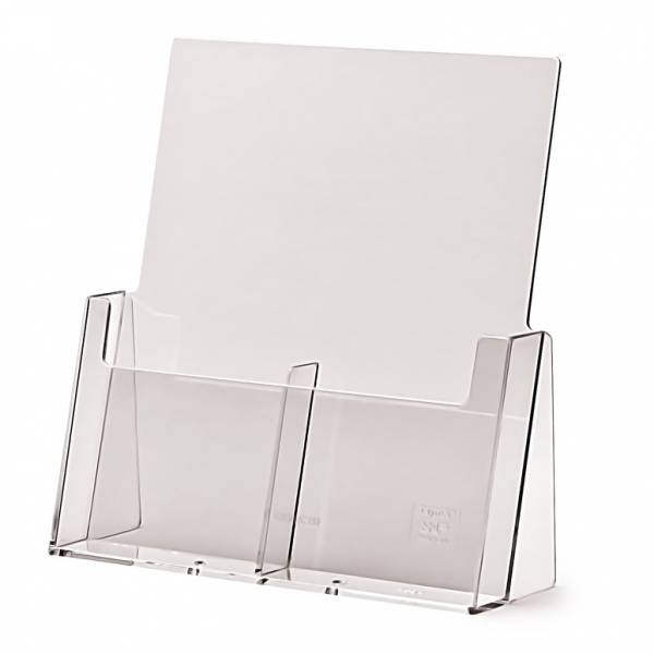 2 wide 1/3rd A4 Counter Brochure Holder