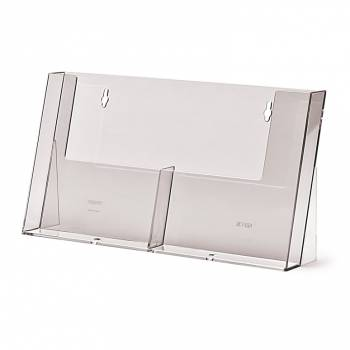 2 Wide A5 Counter/Wall Brochure Holder