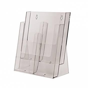 2 tier 4xDL or 2xA4 Counter Brochure Holder
