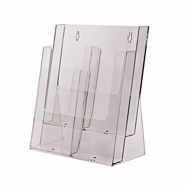 2 tier 4xDL or 2xA4 Counter Brochure Holder