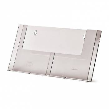 2 wide A5 Wall Brochure Holder