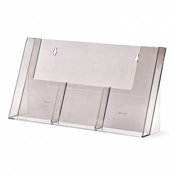3 wide 1/3 A4 DL Counter Brochure Holder