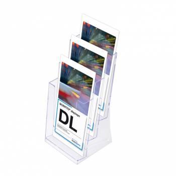 Leaflet Display Holders - 3 Tier 1/3rd A4 DL