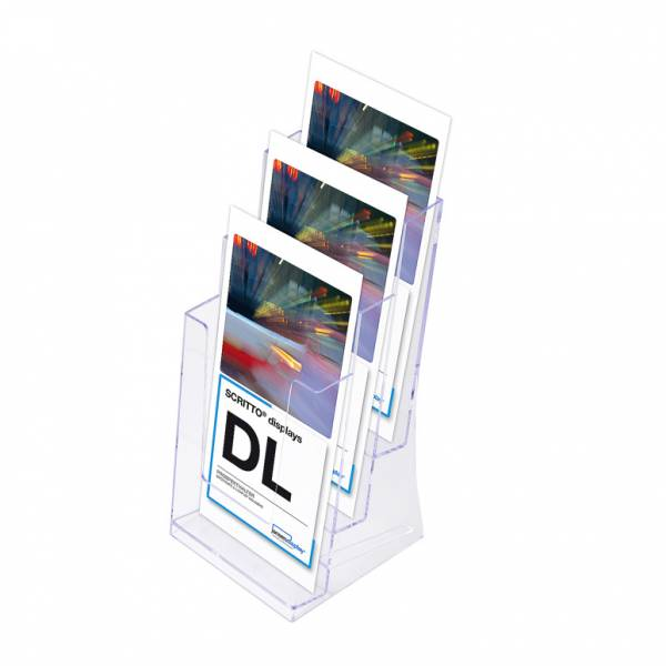 Leaflet Display Holders - 3 Tier 1/3rd A4 DL