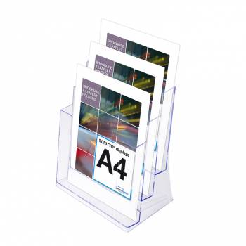 3 Tier A4 Counter Leaflet Holder