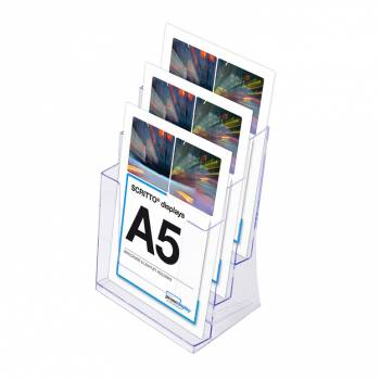 3 Tier A5 Counter Leaflet Holder