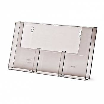 3 wide 1/3rd A4 Wall Brochure Holder