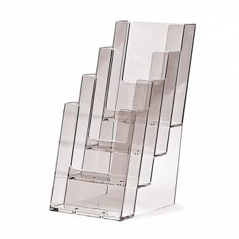 4 tier 1/3rd A4 Counter Brochure Holder