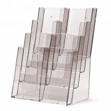 4 Tier 8x1/3 A4 (DL) or 4xA4 Counter/Wall Leaflet Holder