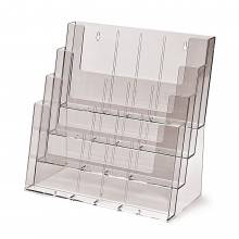 4 Tier 4xA4, 12xDL, 8xA5 Counter/Wall Leaflet Holder