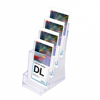 4 Tier 1/3rd A4 DL Scritto Counter Leaflet Holder