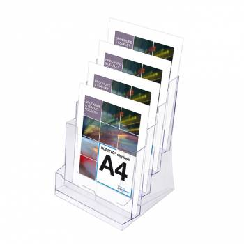 4 Tier A4 Counter Leaflet Holder