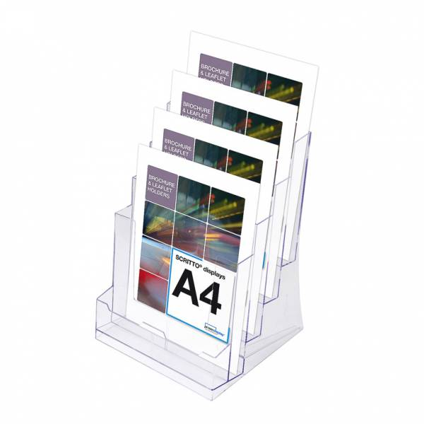 4 Tier A4 Counter Leaflet Holder