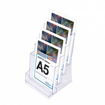4 Tier A5 Counter Leaflet Holder