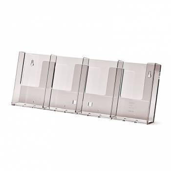 4 wide 1/3rd A4 Wall Brochure Holder