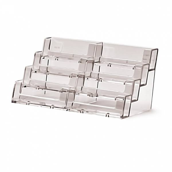 4 tier 8 pocket Landscape Business Card Holder