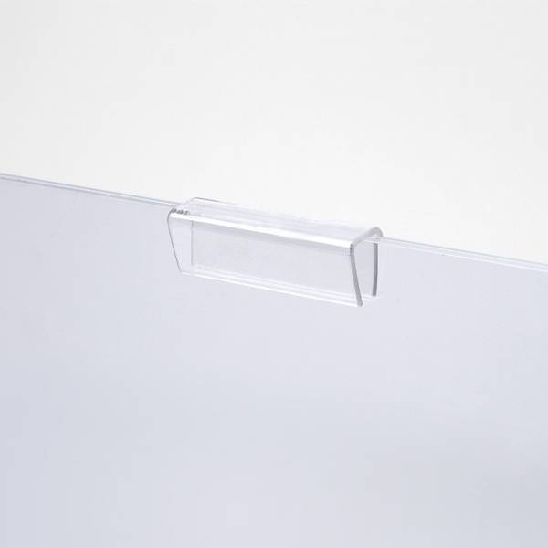 Pocket clamps for easy access acrylic poster pockets