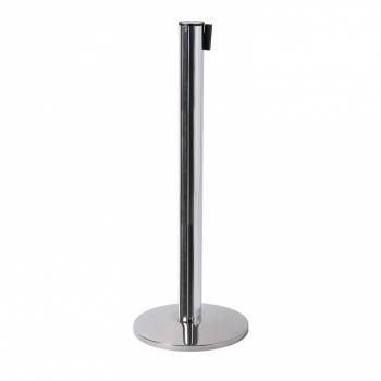 Barrier Flexi Belt Post, Chrome