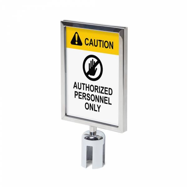 Sign A4 holder Chrome for Barrier Flexi Belt Post Economy