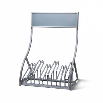 Bike Rack with Snap Frame Header - for up to 6 bikes