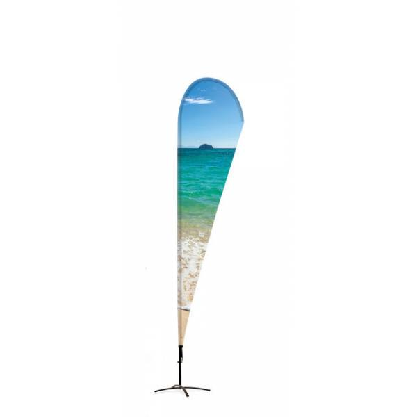 Beachflag Alu Drop 520cm Total Height Luxurious Ba