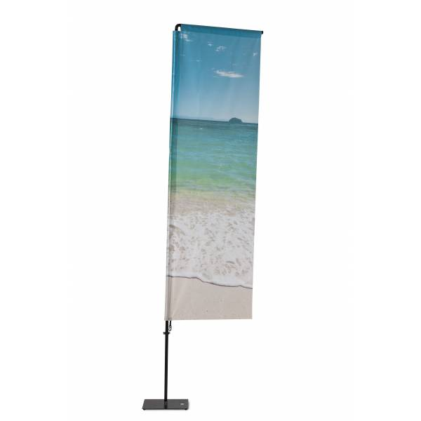 Beachflag Alu Square 240cm Total Height