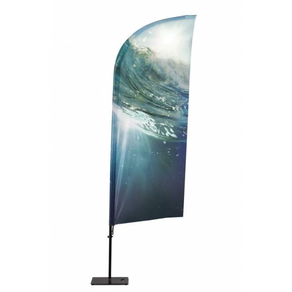 Beachflag Alu Wind 255cm Total Height