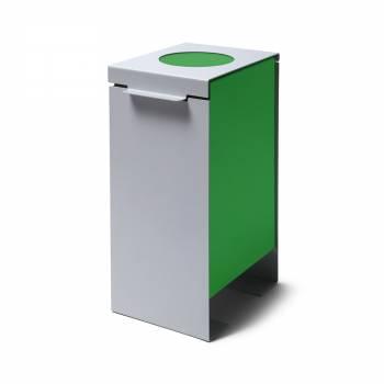 Steel Construction Waste Bin in green