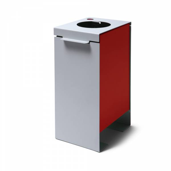 Steel Construction Waste Bin in red