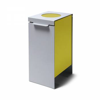 Steel Construction Waste Bin in yellow