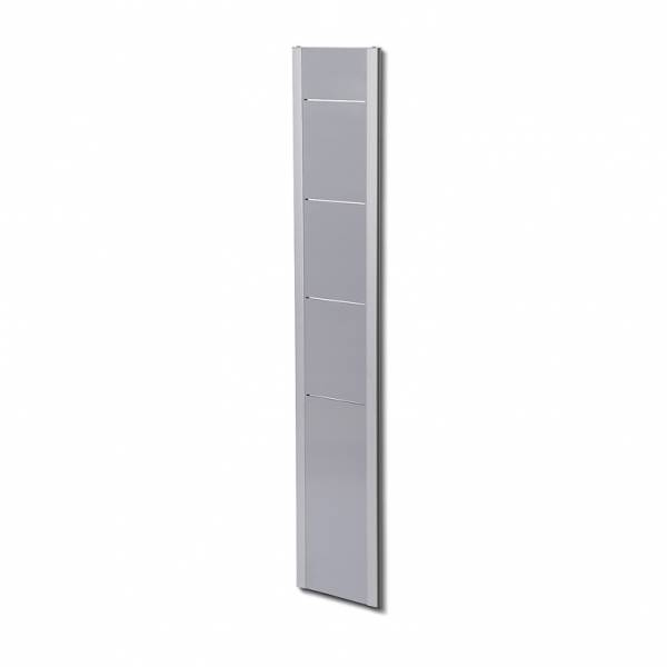 Wall Brochure Rack 4xA4  Silver/Grey or Silver/Black designs