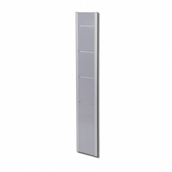 Wall Brochure Rack 4xA4  Silver/Grey or Silver/Black designs