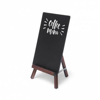 Dark Brown JD Natura Table Top Easel Chalkboard