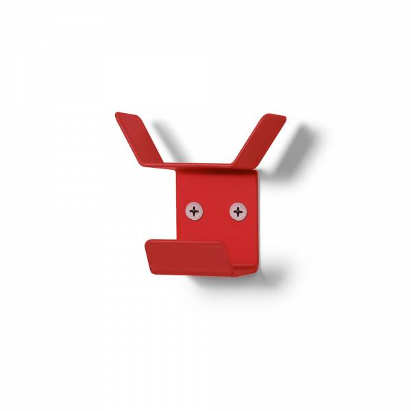Wall Mounted Coat Hanger Mini RED