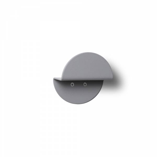 Wall Mounted Coat Hanger Round GREY