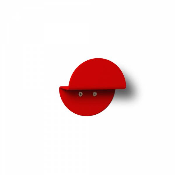 Wall Mounted Coat Hanger Round RED