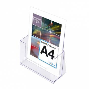 A4 Portrait Leaflet Holder - Counter Stand - Extra Deep
