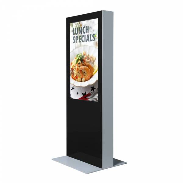 """Digital Totem with monitor 50"""", RAL9005, black, double-sided"""