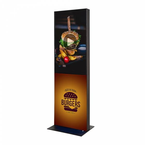"""Digital Fabric Totem With 55"""" Samsung Screen"""