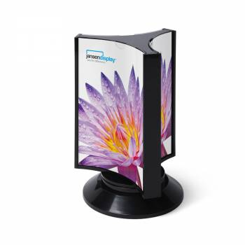 SCRITTO® Three-sided rotary menu stand DL