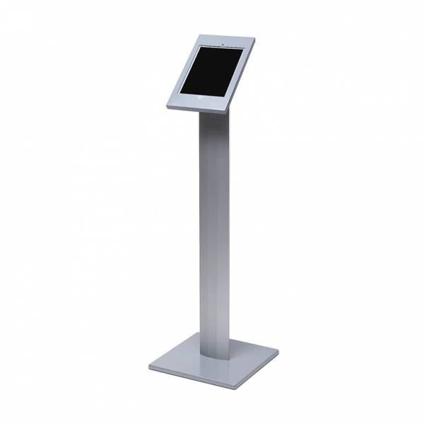 Lockable iPad enclosure - Floor Standing - Silver, Black, White finish