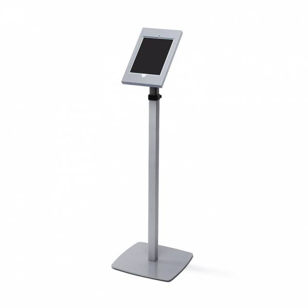 Lockable Ipad Floorstanding Telescopic Silver