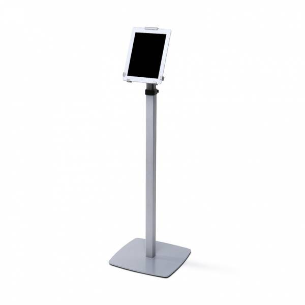 Lockable Tablet holder Free standing Telescopic Tri Grip design - Silver