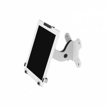 Lockable iPad Tablet holder - Wall - Tri Grip design - White & Black