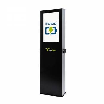 """EVCS32T01 - Digital Totem 32"""" with electric car charger"""