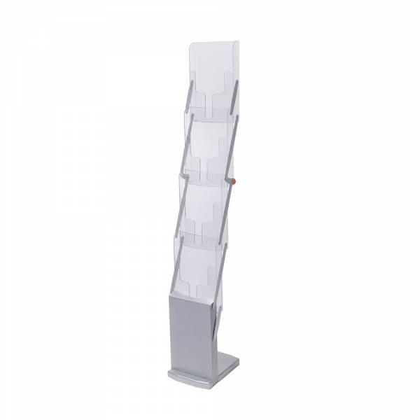 Literature Stand - Foldable - Silver