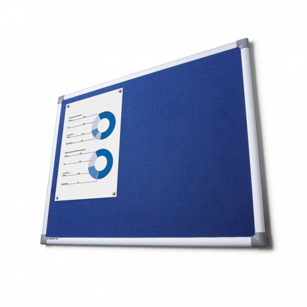 Fabric Notice Board Scritto® - Blue (90x180)