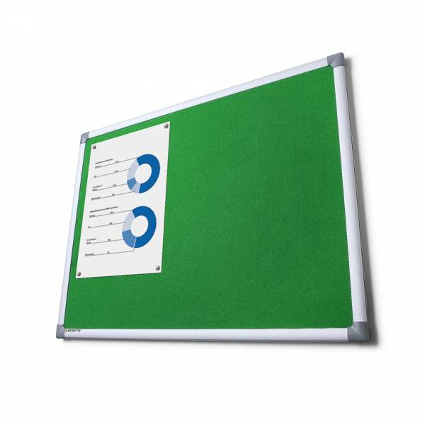 Fabric Notice Board Scritto® - Green (90x120)