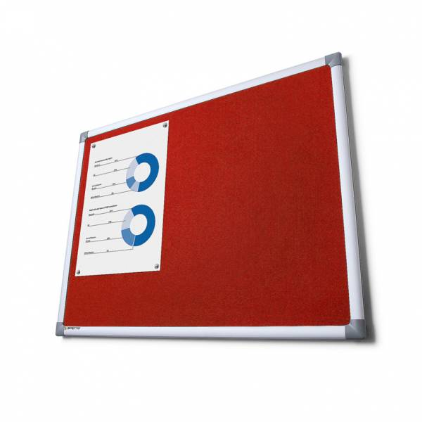 Fabric Notice Board Scritto® - Red (45x60)